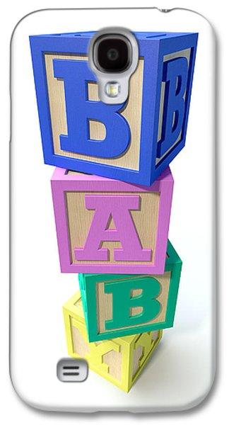 Color Block Galaxy S4 Cases - Stacked Baby Blocks Galaxy S4 Case by Allan Swart