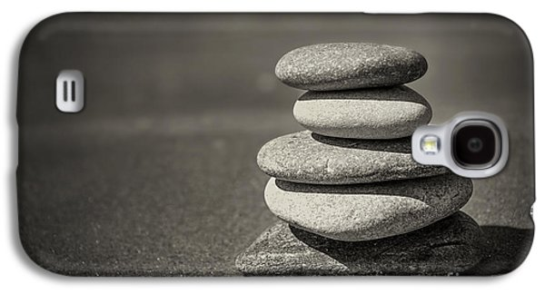 Stone Buildings Galaxy S4 Cases - Stacked pebbles on beach Galaxy S4 Case by Elena Elisseeva