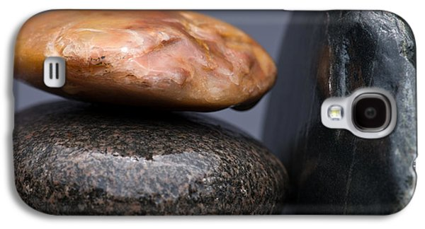 Pebbles Galaxy S4 Cases - Stacked Stones 3 Galaxy S4 Case by Steve Gadomski