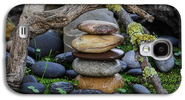 Mystic Setting Galaxy S4 Cases - Stacked Stones A1 Galaxy S4 Case by Marco Oliveira