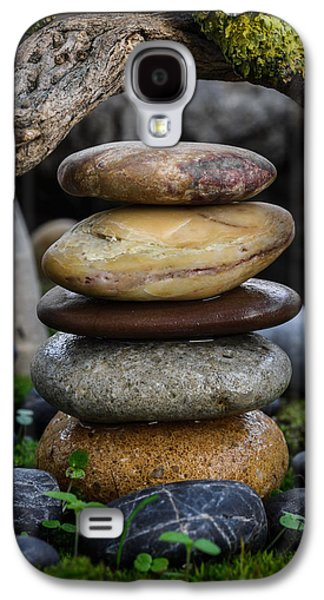 Mystic Setting Galaxy S4 Cases - Stacked Stones A5 Galaxy S4 Case by Marco Oliveira