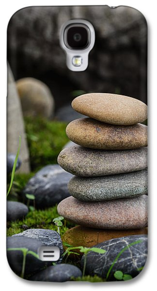 Mystic Setting Galaxy S4 Cases - Stacked Stones B3 Galaxy S4 Case by Marco Oliveira