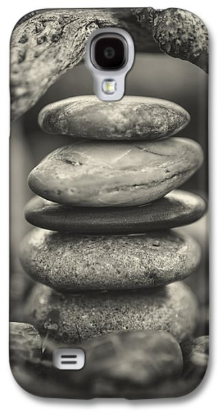 Mystic Setting Galaxy S4 Cases - Stacked Stones BW I Galaxy S4 Case by Marco Oliveira