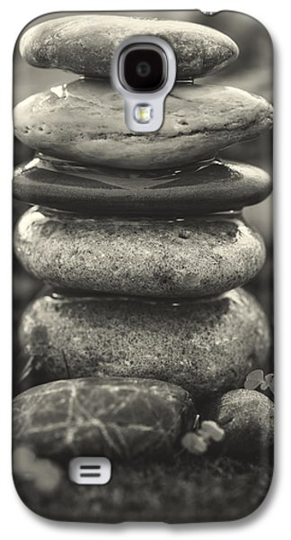 Mystic Setting Galaxy S4 Cases - Stacked Stones BW II Galaxy S4 Case by Marco Oliveira