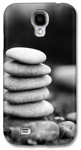 Mystic Setting Galaxy S4 Cases - Stacked Stones BW IV Galaxy S4 Case by Marco Oliveira