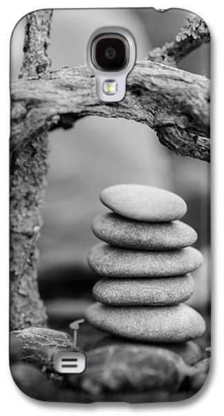 Mystic Setting Galaxy S4 Cases - Stacked Stones BW V Galaxy S4 Case by Marco Oliveira