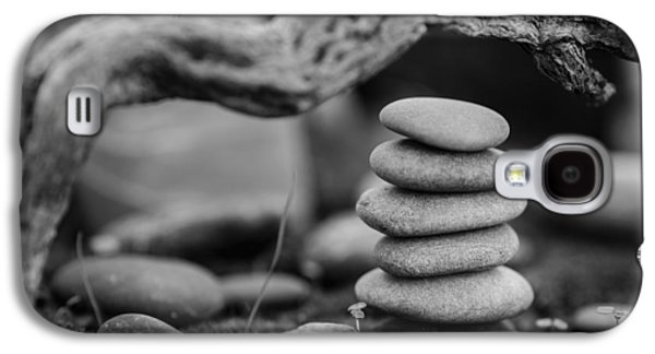 Mystic Setting Galaxy S4 Cases - Stacked Stones BW VI Galaxy S4 Case by Marco Oliveira