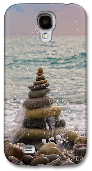Beach Landscape Galaxy S4 Cases - Stacking Stones Galaxy S4 Case by Stylianos Kleanthous