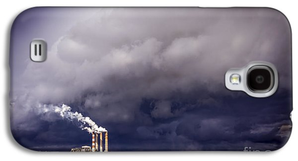 Power Plants Galaxy S4 Cases - Stacks in the Clouds Galaxy S4 Case by Marvin Spates