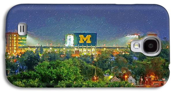 Stadium At Night Galaxy S4 Case by John Farr