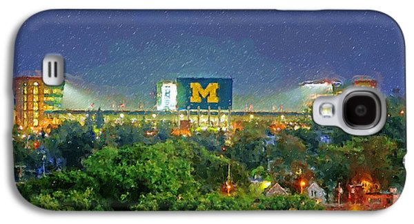 Universities Paintings Galaxy S4 Cases - Stadium at Night Galaxy S4 Case by John Farr