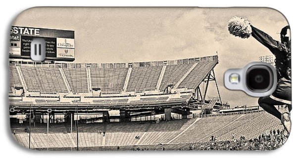 Sports Photographs Galaxy S4 Cases - Stadium Cheer Black and White Galaxy S4 Case by Tom Gari Gallery-Three-Photography