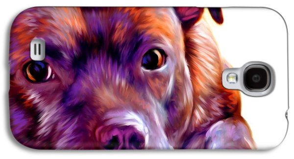 Dogs Digital Galaxy S4 Cases - Staffie Art Galaxy S4 Case by Iain McDonald