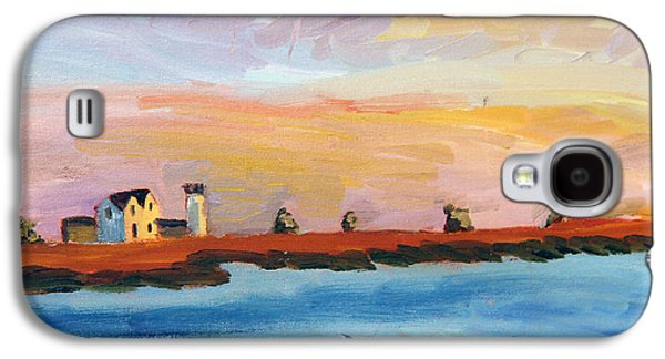 Chatham Paintings Galaxy S4 Cases - Stage Harbor Sunset Galaxy S4 Case by Michael Helfen