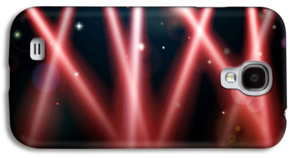Dance Floor Paintings Galaxy S4 Cases - Stage Lighting 1 Galaxy S4 Case by Lanjee Chee