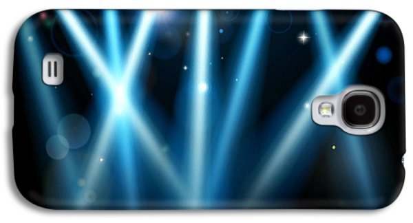 Dance Floor Paintings Galaxy S4 Cases - Stage Lighting 2 Galaxy S4 Case by Lanjee Chee