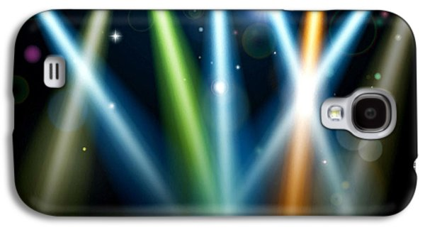 Dance Floor Paintings Galaxy S4 Cases - Stage Lighting 3 Galaxy S4 Case by Lanjee Chee