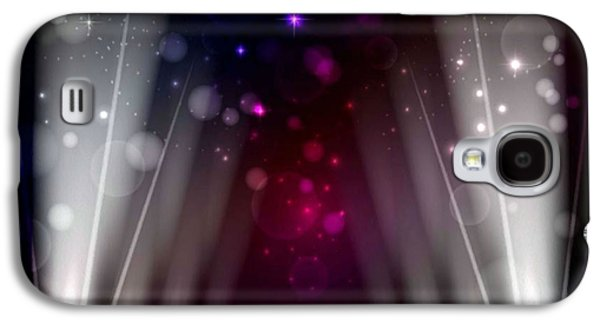Dance Floor Paintings Galaxy S4 Cases - Stage Lighting 5 Galaxy S4 Case by Lanjee Chee
