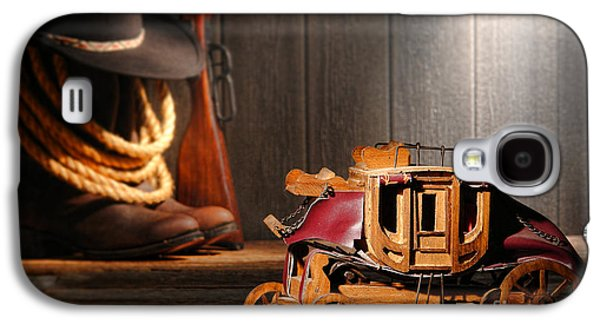 Artisan Galaxy S4 Cases - Stagecoach Dream Galaxy S4 Case by Olivier Le Queinec