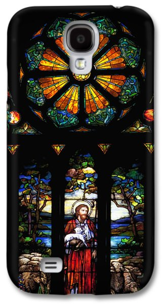 Light Glass Art Galaxy S4 Cases - Stained Church Glass - Selma Alabama Galaxy S4 Case by Mountain Dreams