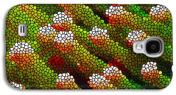 Alga Paintings Galaxy S4 Cases - Stained Glass Coral Reef 1 Galaxy S4 Case by Lanjee Chee
