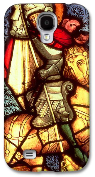 St George Galaxy S4 Cases - Stained Glass Window Depicting Saint George Galaxy S4 Case by German School
