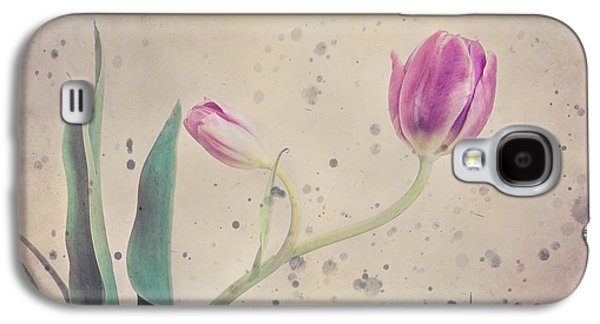 Bloosom Galaxy S4 Cases - Stained tulip Galaxy S4 Case by Cristina-Velina Ion