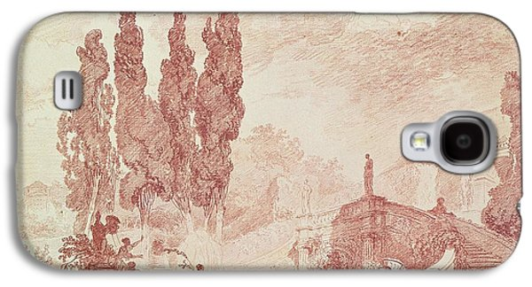 Italian Photographs Galaxy S4 Cases - Staircase In The Gardens Of The Villa Deste, Tivoli Red Chalk On Paper Galaxy S4 Case by Jean-Honore Fragonard