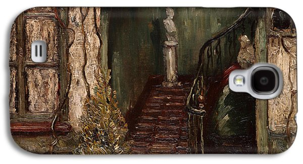 Staircase Paintings Galaxy S4 Cases - Staircase Galaxy S4 Case by William Harper