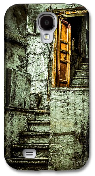 Wooden Stairs Galaxy S4 Cases - Stairs leading to the old door Galaxy S4 Case by Catherine Arnas