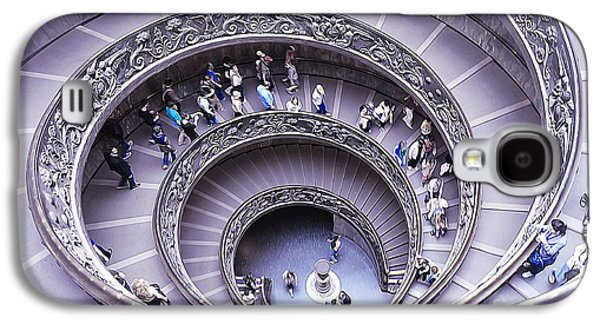 Staircase Paintings Galaxy S4 Cases - Stairway in Vatican Museum Galaxy S4 Case by Stefano Senise
