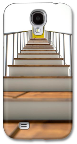 Staircase Galaxy S4 Cases - Stairway To Yellow Door Galaxy S4 Case by Allan Swart