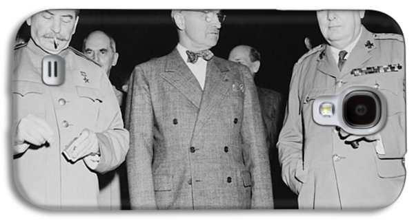 Stalin Truman And Churchill  Galaxy S4 Case by War Is Hell Store