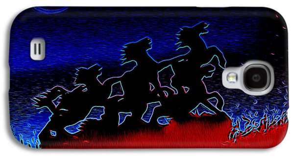 Stampede Digital Art Galaxy S4 Cases - Stampede - Night Galaxy S4 Case by Carlos Vieira