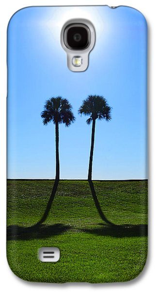 Best Friend Photographs Galaxy S4 Cases - Stand By Me - Palm Tree Art By Sharon Cummings Galaxy S4 Case by Sharon Cummings