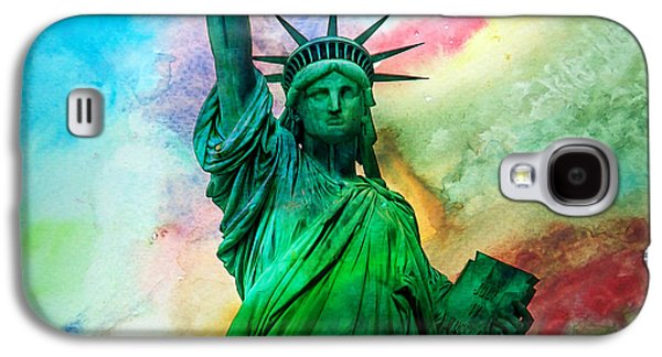 4th July Digital Galaxy S4 Cases - Stand Up For Your Dreams Galaxy S4 Case by Az Jackson