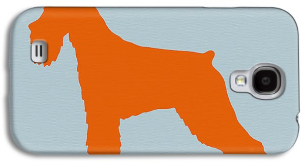 Puppy Digital Art Galaxy S4 Cases - Standard Schnauzer Orange Galaxy S4 Case by Naxart Studio