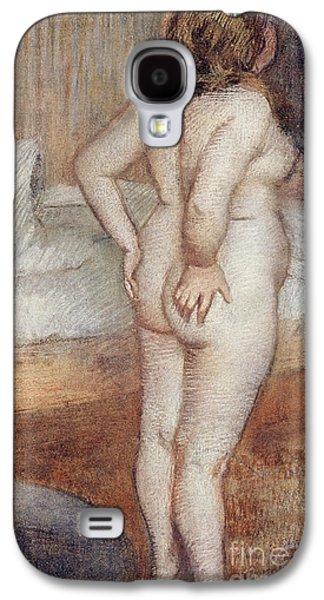 Girl Pastels Galaxy S4 Cases - Standing Nude Galaxy S4 Case by Edgar Degas