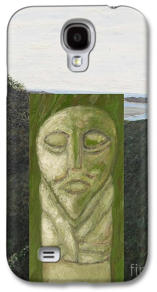Surreal Landscape Mixed Media Galaxy S4 Cases - Standing Stone Galaxy S4 Case by Patrick J Murphy