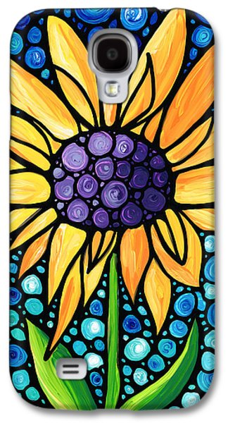 Sunflower Patch Galaxy S4 Cases - Standing Tall - Sunflower Art By Sharon Cummings Galaxy S4 Case by Sharon Cummings