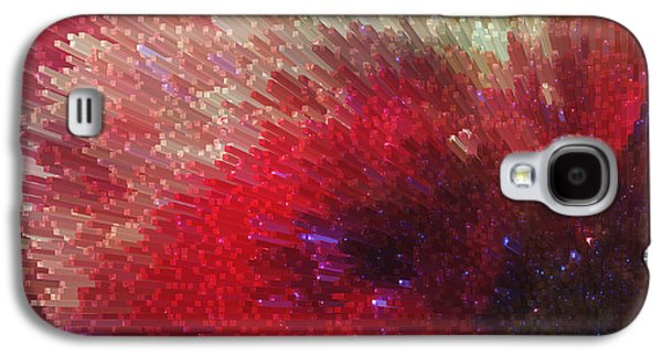 Star Burst - Red Abstract Art By Sharon Cummings Galaxy S4 Case by Sharon Cummings