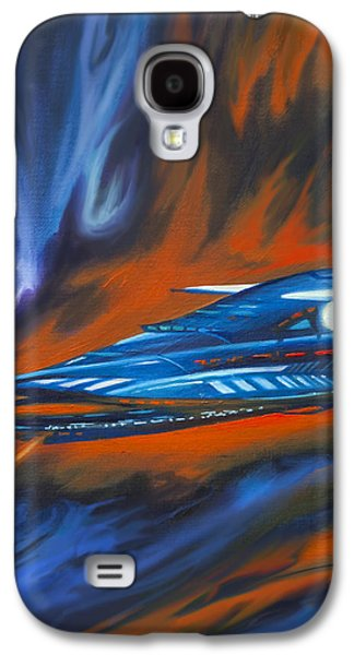 Stellar Paintings Galaxy S4 Cases - Star Cruiser Galaxy S4 Case by James Christopher Hill