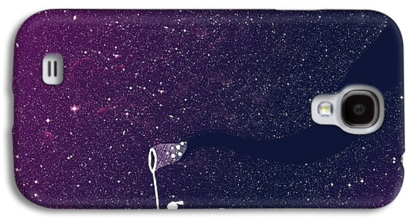 Outer Space Galaxy S4 Cases - Star field purple Galaxy S4 Case by Budi Satria Kwan