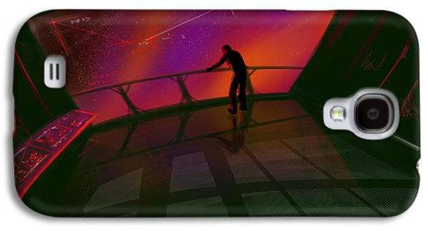 Stellar Paintings Galaxy S4 Cases - Star Gazer Galaxy S4 Case by James Christopher Hill