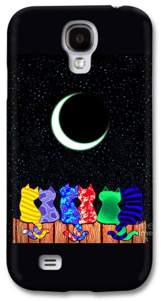 Fun Drawings Galaxy S4 Cases - Star Gazers Galaxy S4 Case by Nick Gustafson