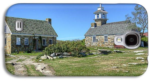 Rural Maine Roads Galaxy S4 Cases - Star Island Village Galaxy S4 Case by Donna Doherty