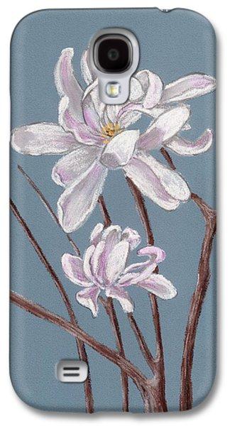 White Pastels Galaxy S4 Cases - Star Magnolia  Galaxy S4 Case by Anastasiya Malakhova
