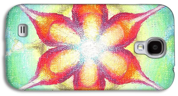 Contemplative Pastels Galaxy S4 Cases - Star of Metatron Galaxy S4 Case by Michelle Bien