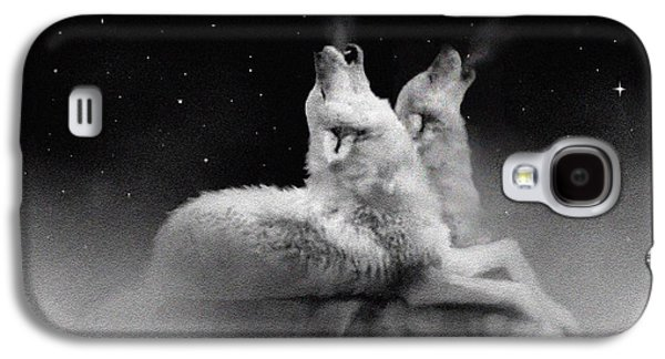 Wolves Digital Galaxy S4 Cases - Star Talkers Galaxy S4 Case by Robert Foster