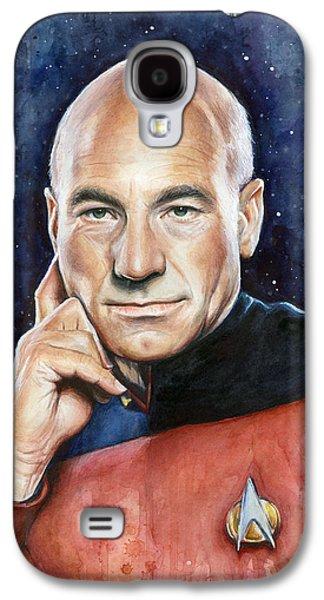 Star Trek Galaxy S4 Cases - Star Trek Captain Picard Portrait Galaxy S4 Case by Olga Shvartsur
